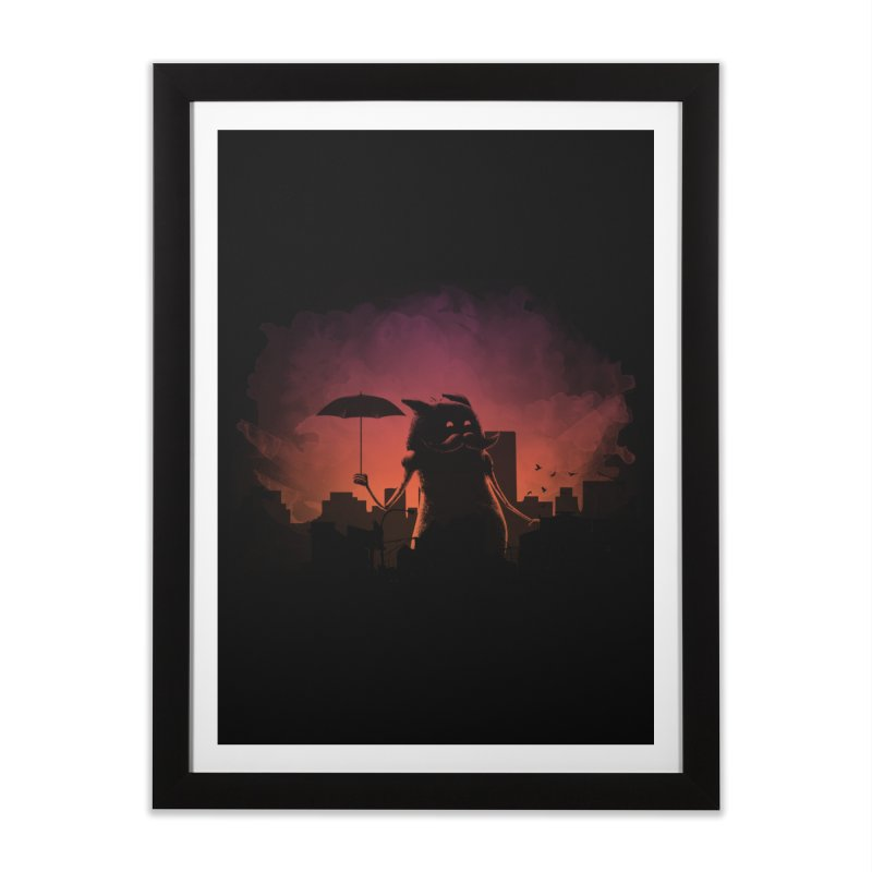 Mr. Mustache Comes To Town Home Framed Fine Art Print by Gyledesigns' Artist Shop