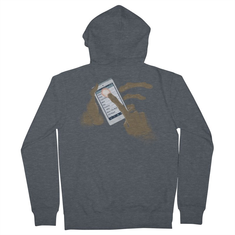 Phone Home Women's French Terry Zip-Up Hoody by Gyledesigns' Artist Shop