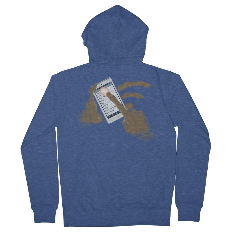 Phone Home Men's French Terry Zip-Up Hoody by Gyledesigns' Artist Shop