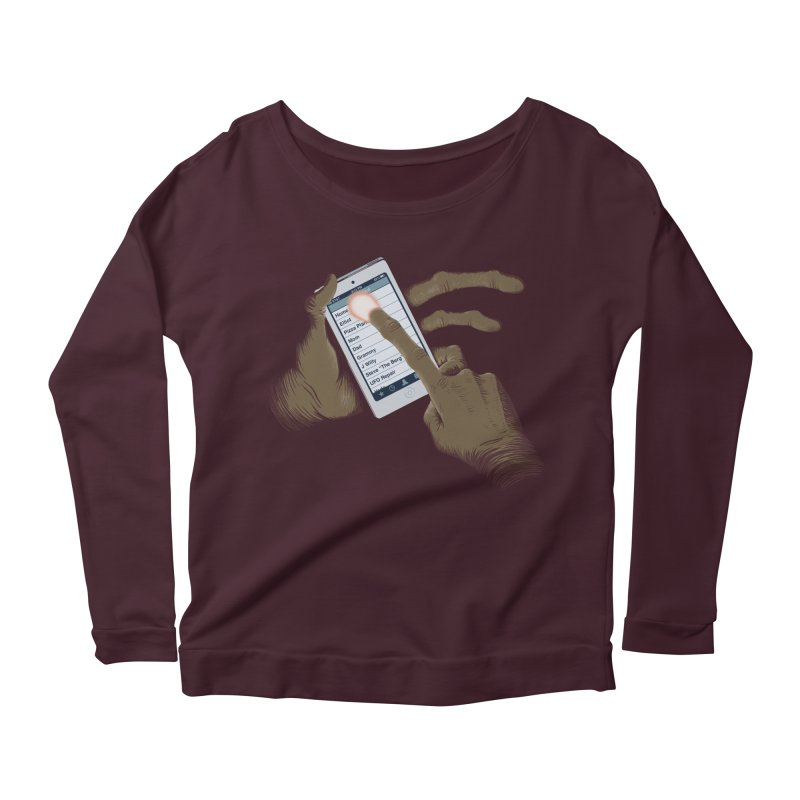 Phone Home Women's Longsleeve Scoopneck  by Gyledesigns' Artist Shop