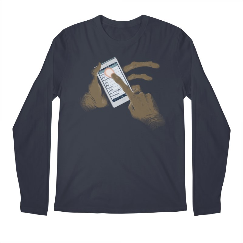 Phone Home Men's Regular Longsleeve T-Shirt by Gyledesigns' Artist Shop