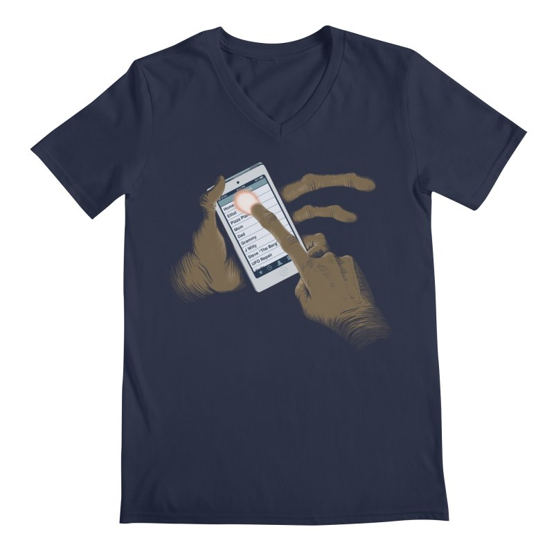 Phone Home Men's Regular V-Neck by Gyledesigns' Artist Shop