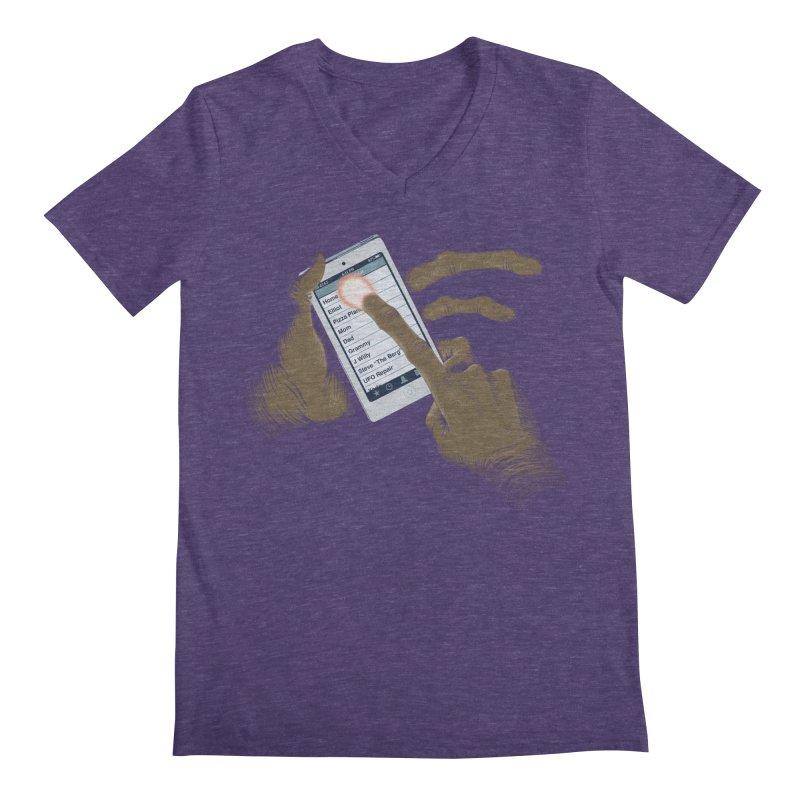 Phone Home Men's Regular V-Neck by Gyledesigns' Artist Shop