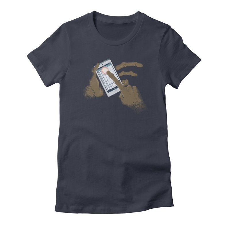 Phone Home Women's Fitted T-Shirt by Gyledesigns' Artist Shop