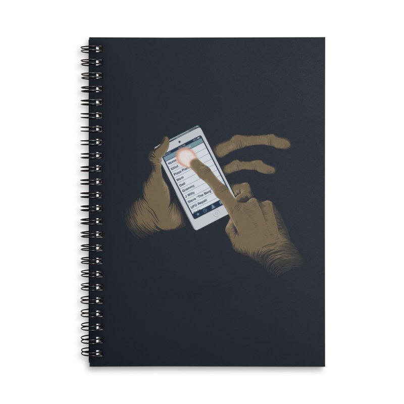 Phone Home Accessories Lined Spiral Notebook by Gyledesigns' Artist Shop