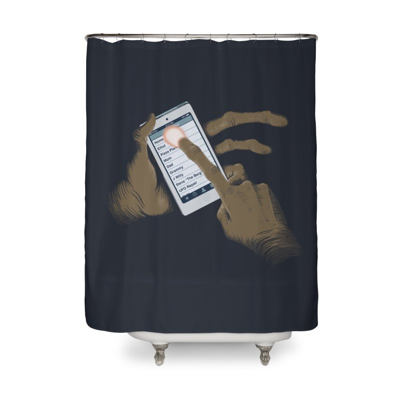Phone Home Home Shower Curtain by Gyledesigns' Artist Shop