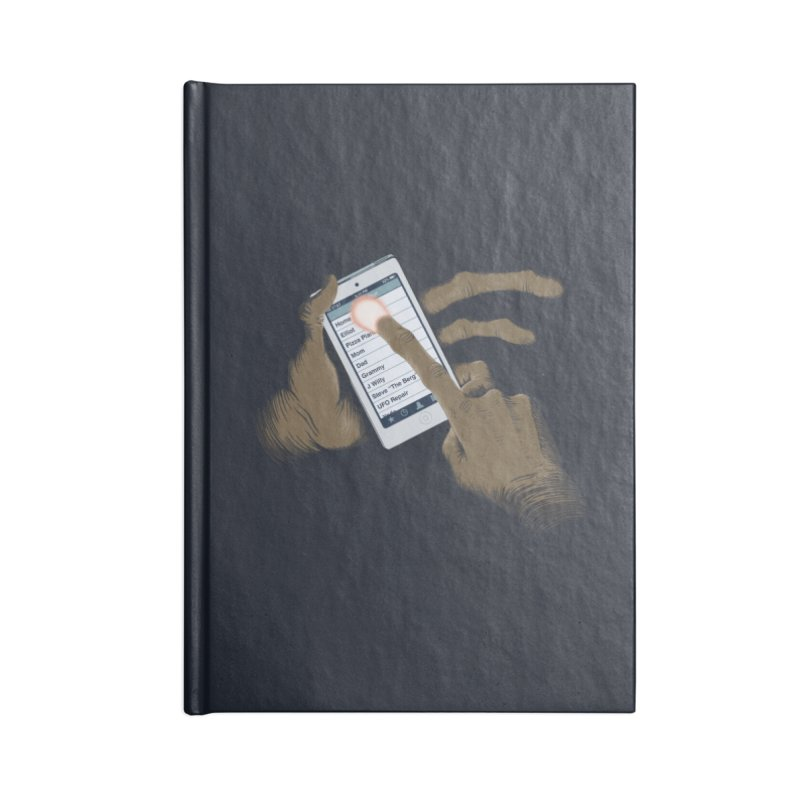 Phone Home Accessories Lined Journal Notebook by Gyledesigns' Artist Shop