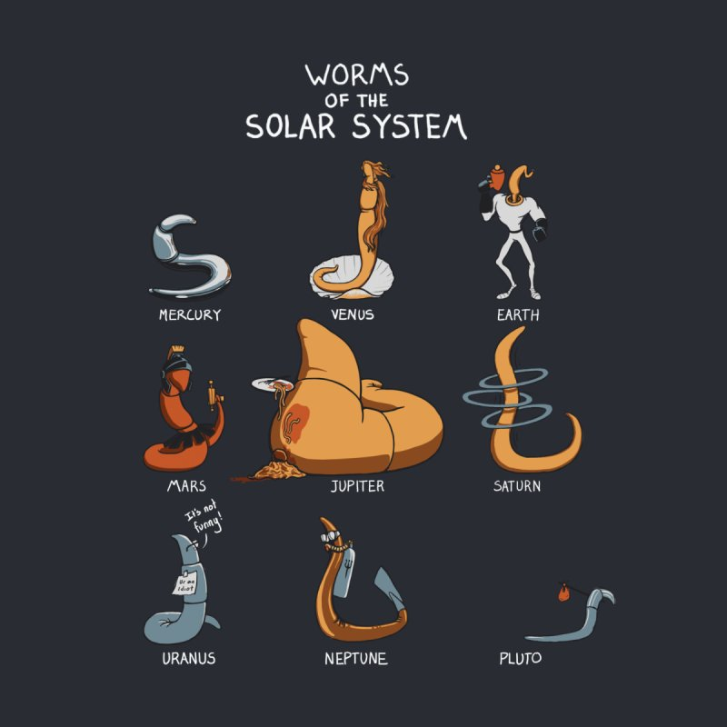 Worms of the Solar System by Gyledesigns' Artist Shop