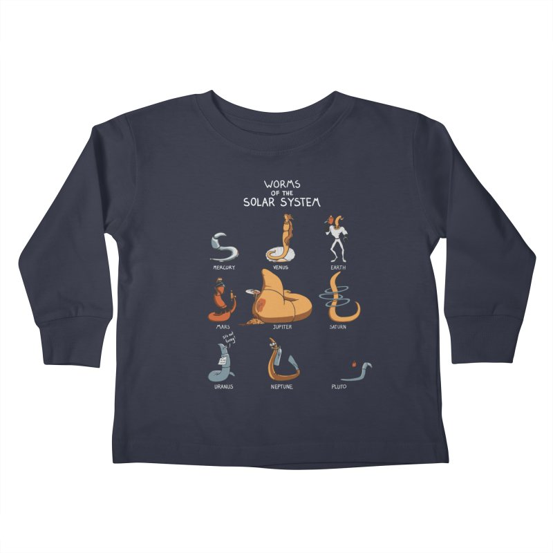 Worms of the Solar System Kids Toddler Longsleeve T-Shirt by Gyledesigns' Artist Shop