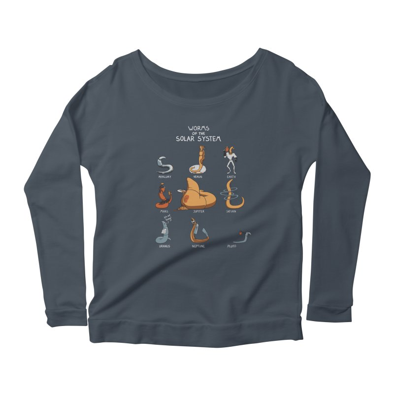 Worms of the Solar System Women's Longsleeve Scoopneck  by Gyledesigns' Artist Shop