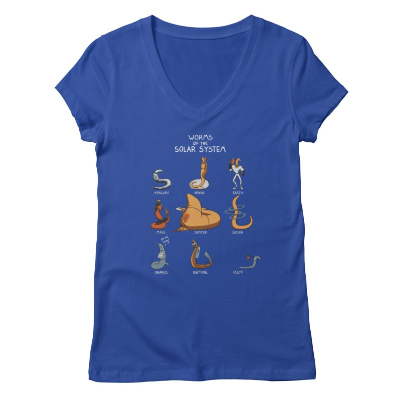 Worms of the Solar System Women's V-Neck by Gyledesigns' Artist Shop