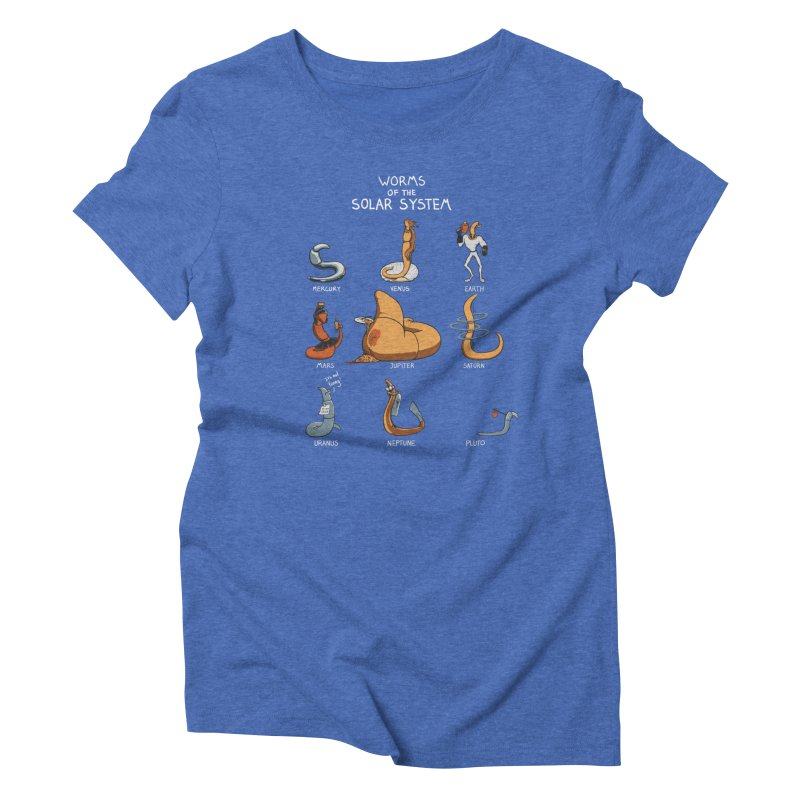 Worms of the Solar System Women's Triblend T-Shirt by Gyledesigns' Artist Shop
