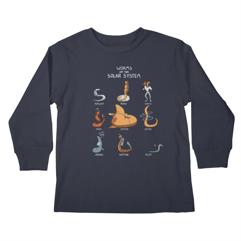Worms of the Solar System Kids Longsleeve T-Shirt by Gyledesigns' Artist Shop