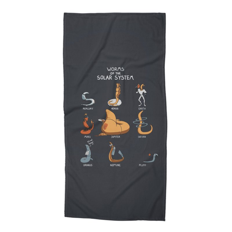 Worms of the Solar System Accessories Beach Towel by Gyledesigns' Artist Shop