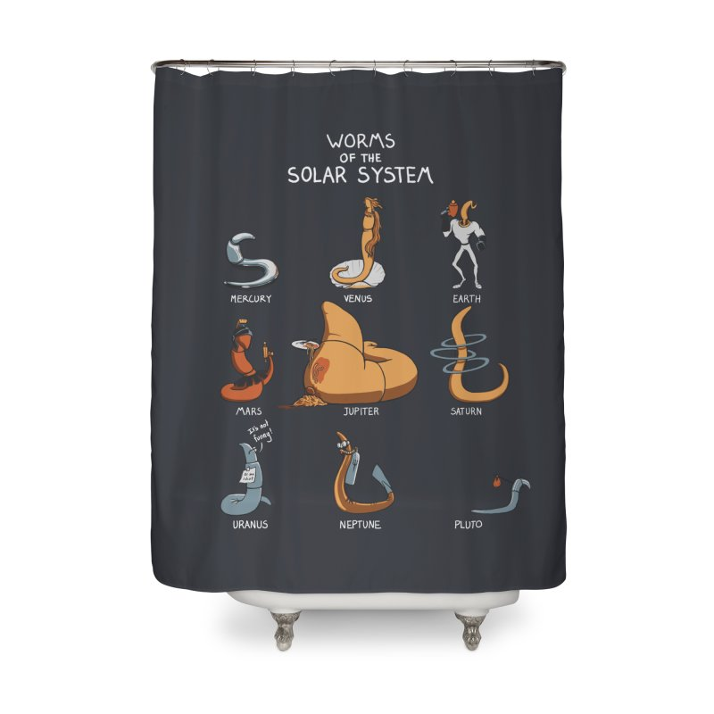 Worms of the Solar System Home Shower Curtain by Gyledesigns' Artist Shop