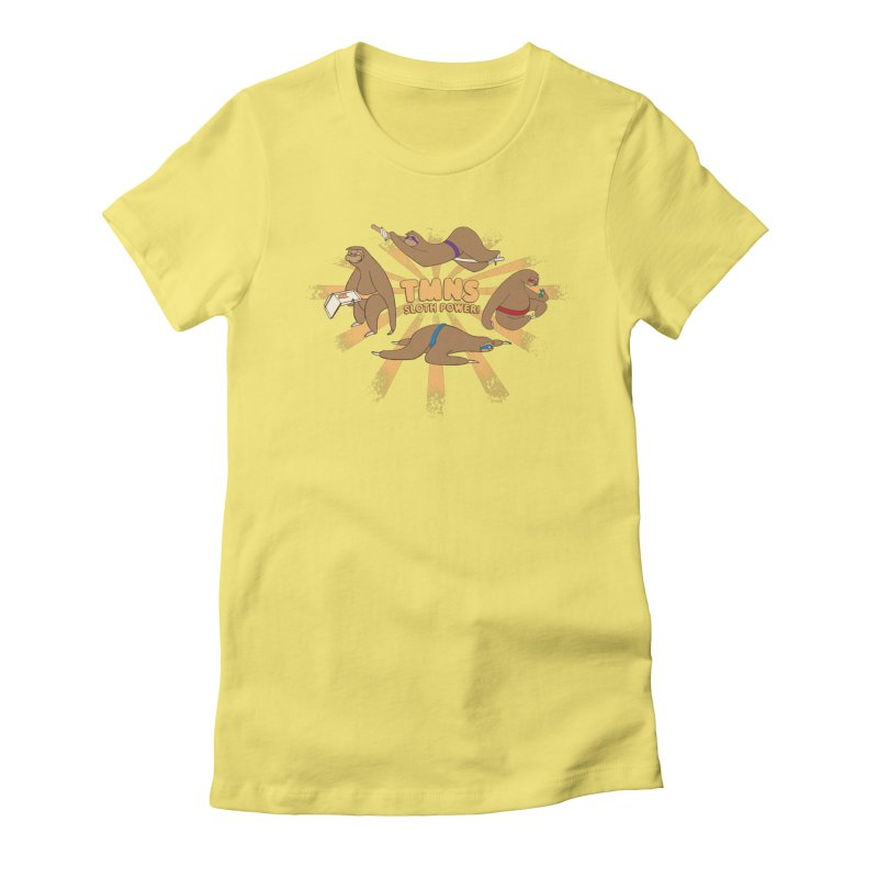 Teenage Mutant Ninja Sloths Women's Fitted T-Shirt by Gyledesigns' Artist Shop