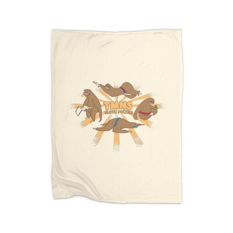 Teenage Mutant Ninja Sloths Home Fleece Blanket Blanket by Gyledesigns' Artist Shop