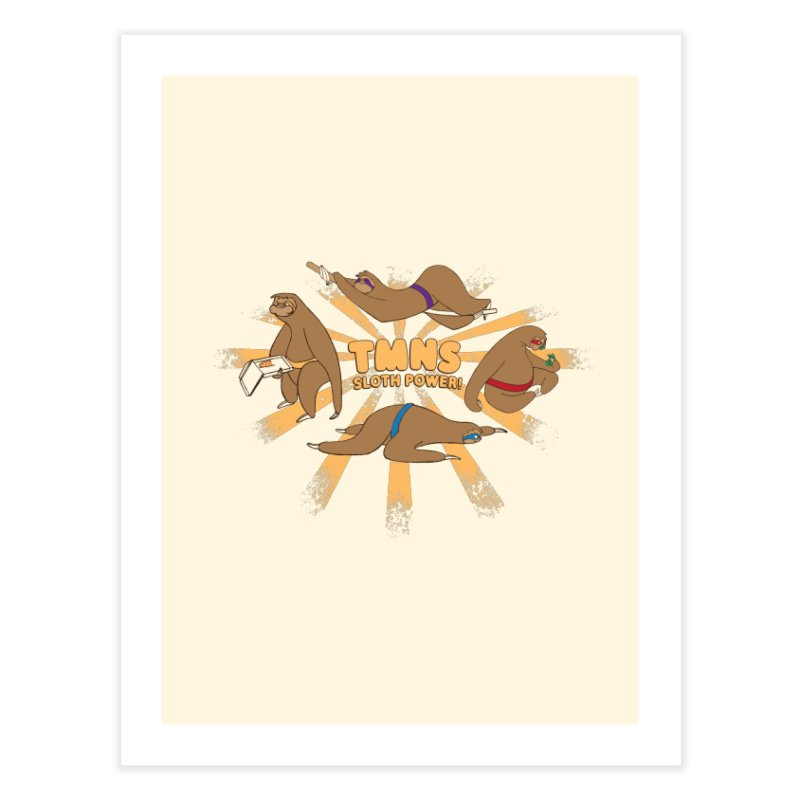 Teenage Mutant Ninja Sloths Home Fine Art Print by Gyledesigns' Artist Shop