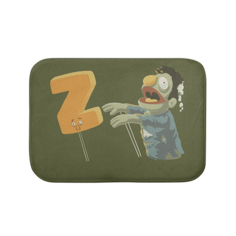Z is for Zombie Home Bath Mat by Gyledesigns' Artist Shop