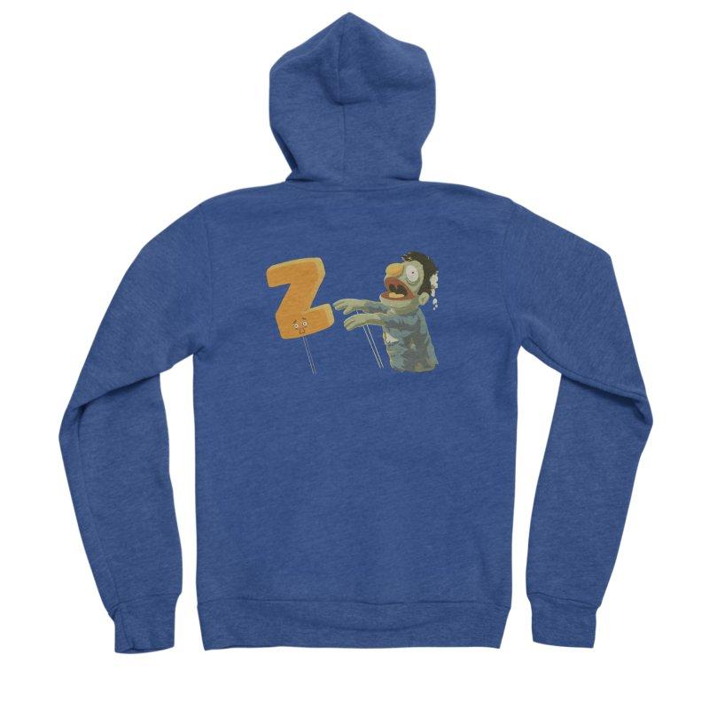 Z is for Zombie Men's Sponge Fleece Zip-Up Hoody by Gyledesigns' Artist Shop