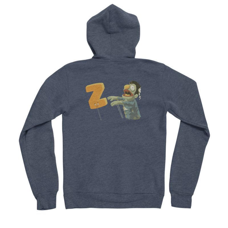 Z is for Zombie Women's Sponge Fleece Zip-Up Hoody by Gyledesigns' Artist Shop