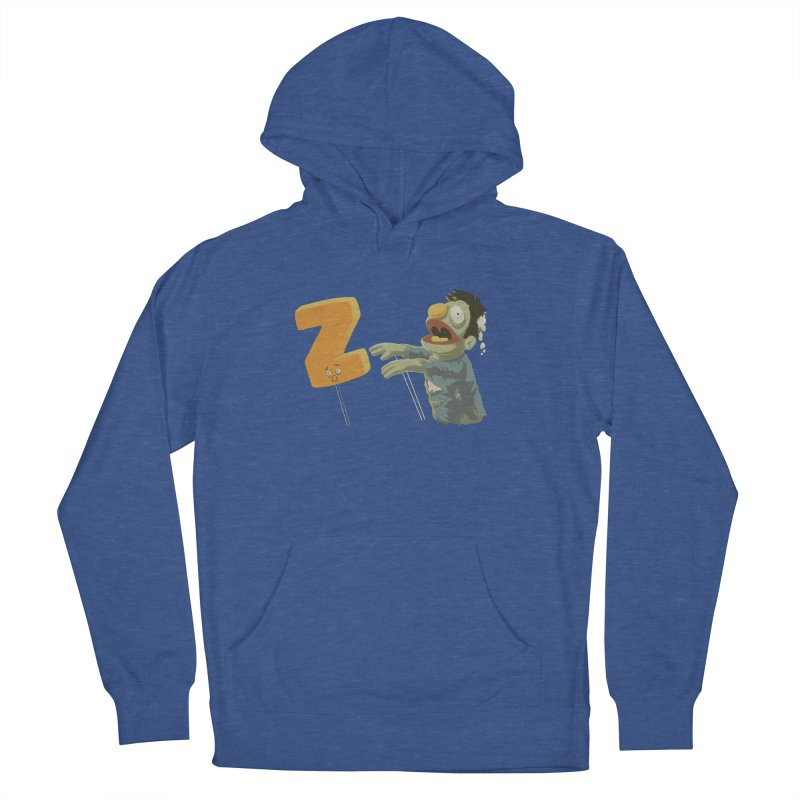 Z is for Zombie Men's French Terry Pullover Hoody by Gyledesigns' Artist Shop