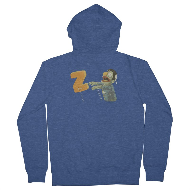 Z is for Zombie Men's French Terry Zip-Up Hoody by Gyledesigns' Artist Shop