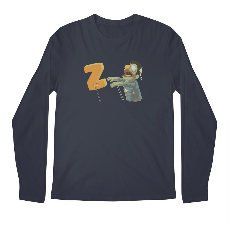 Z is for Zombie Men's Regular Longsleeve T-Shirt by Gyledesigns' Artist Shop