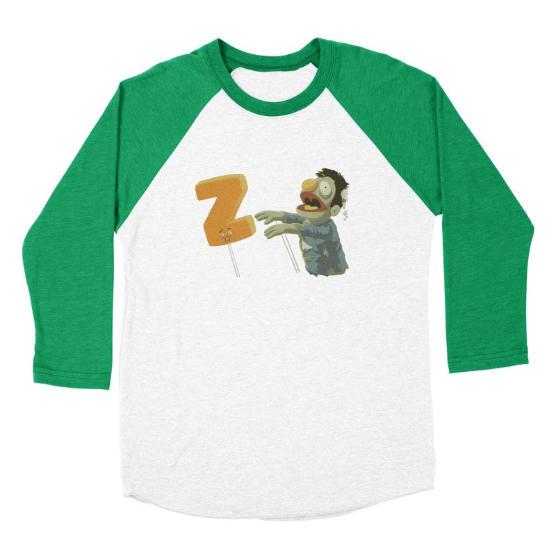 Z is for Zombie Men's Baseball Triblend Longsleeve T-Shirt by Gyledesigns' Artist Shop
