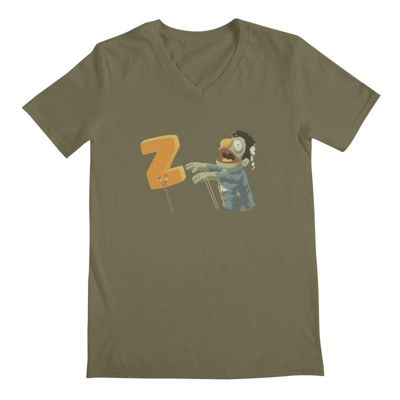 Z is for Zombie Men's Regular V-Neck by Gyledesigns' Artist Shop