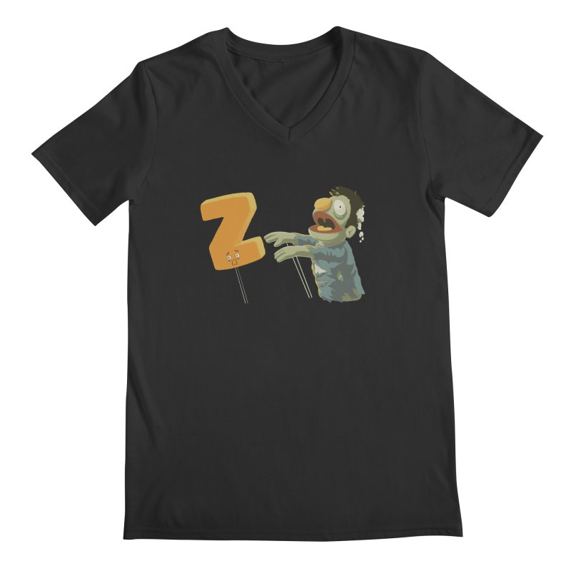 Z is for Zombie Men's Regular V-Neck by Gyledesigns' Artist Shop