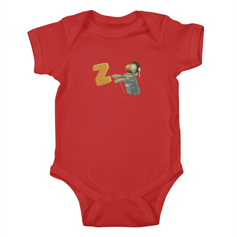 Z is for Zombie Kids Baby Bodysuit by Gyledesigns' Artist Shop