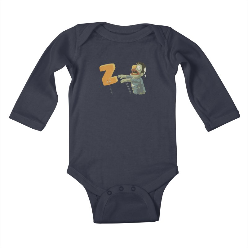 Z is for Zombie Kids Baby Longsleeve Bodysuit by Gyledesigns' Artist Shop