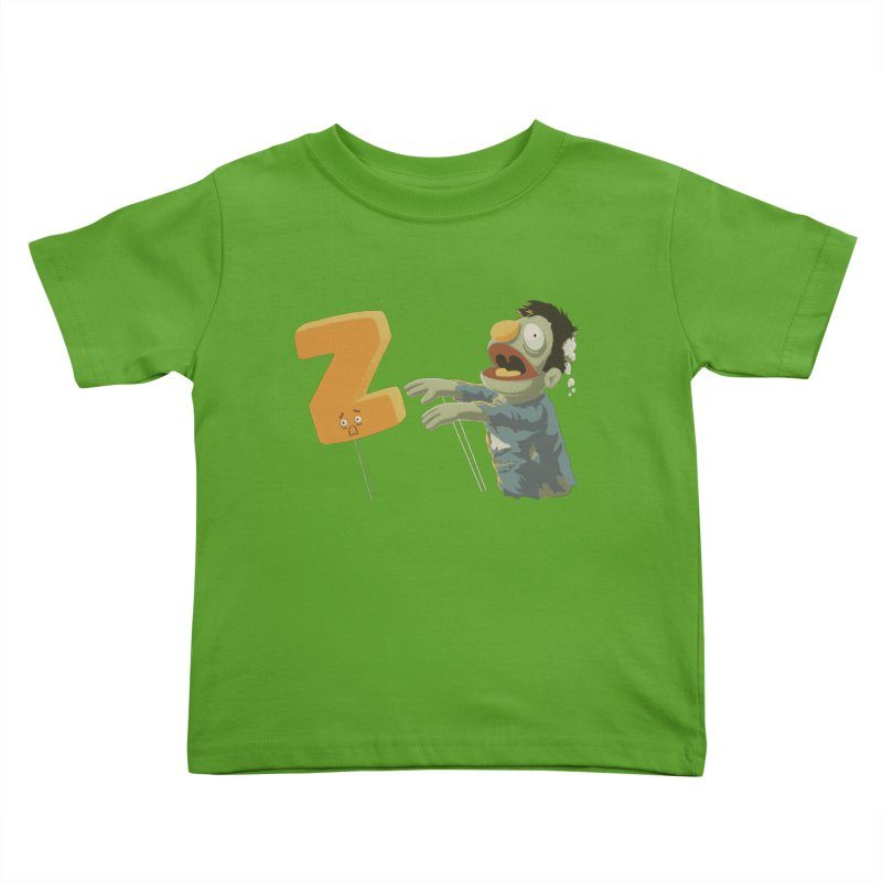 Z is for Zombie Kids Toddler T-Shirt by Gyledesigns' Artist Shop