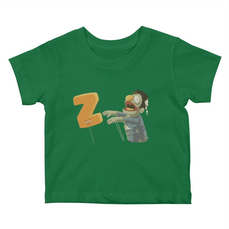 Z is for Zombie Kids Baby T-Shirt by Gyledesigns' Artist Shop