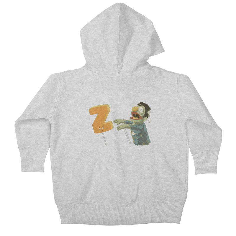 Z is for Zombie Kids Baby Zip-Up Hoody by Gyledesigns' Artist Shop