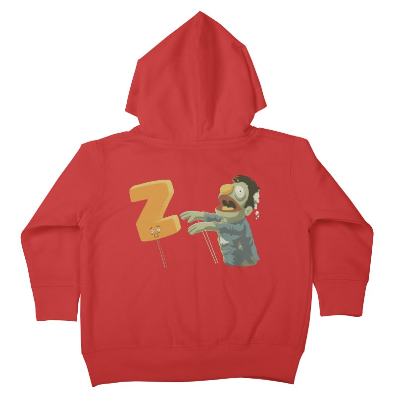 Z is for Zombie Kids Toddler Zip-Up Hoody by Gyledesigns' Artist Shop