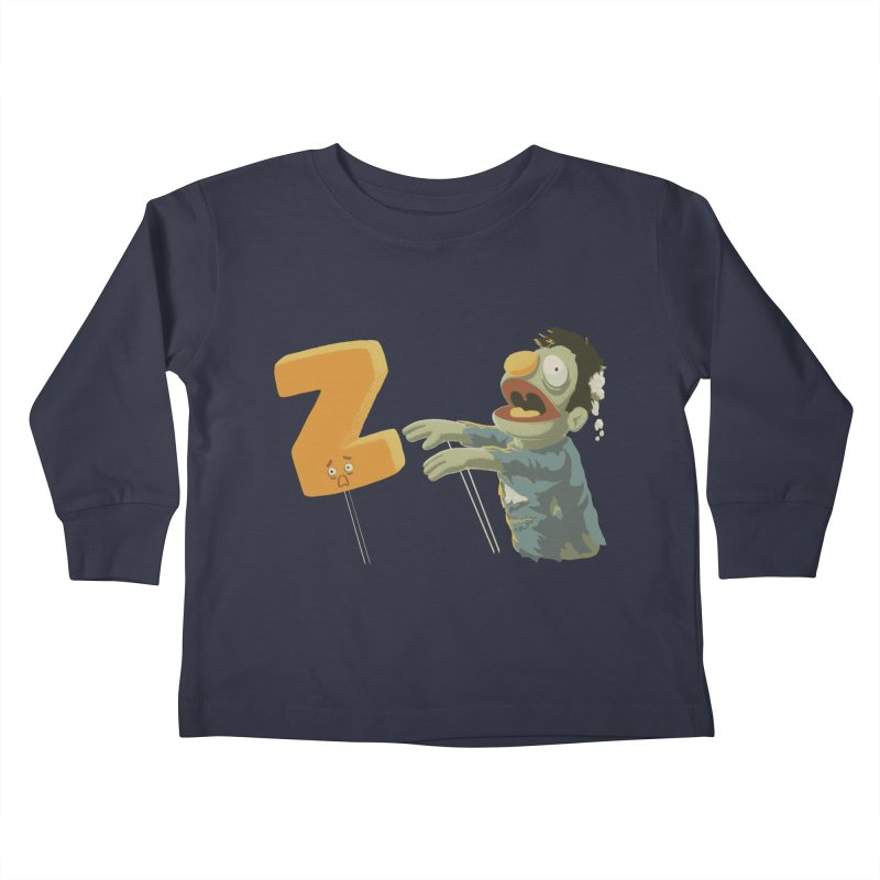 Z is for Zombie Kids Toddler Longsleeve T-Shirt by Gyledesigns' Artist Shop