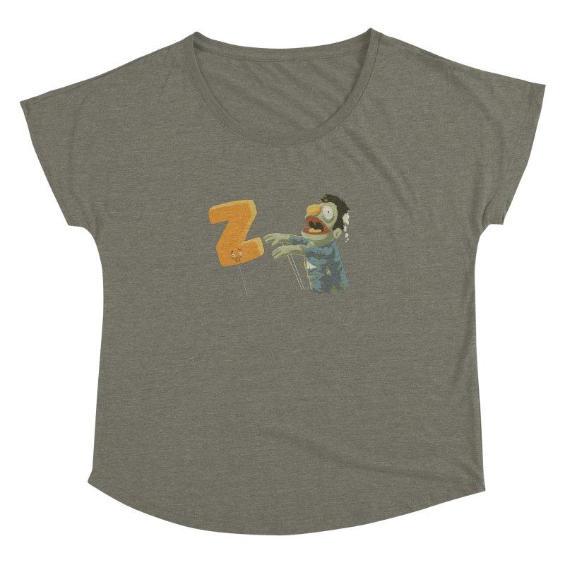 Z is for Zombie Women's Dolman Scoop Neck by Gyledesigns' Artist Shop