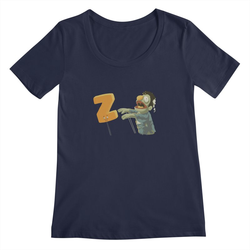Z is for Zombie Women's Regular Scoop Neck by Gyledesigns' Artist Shop
