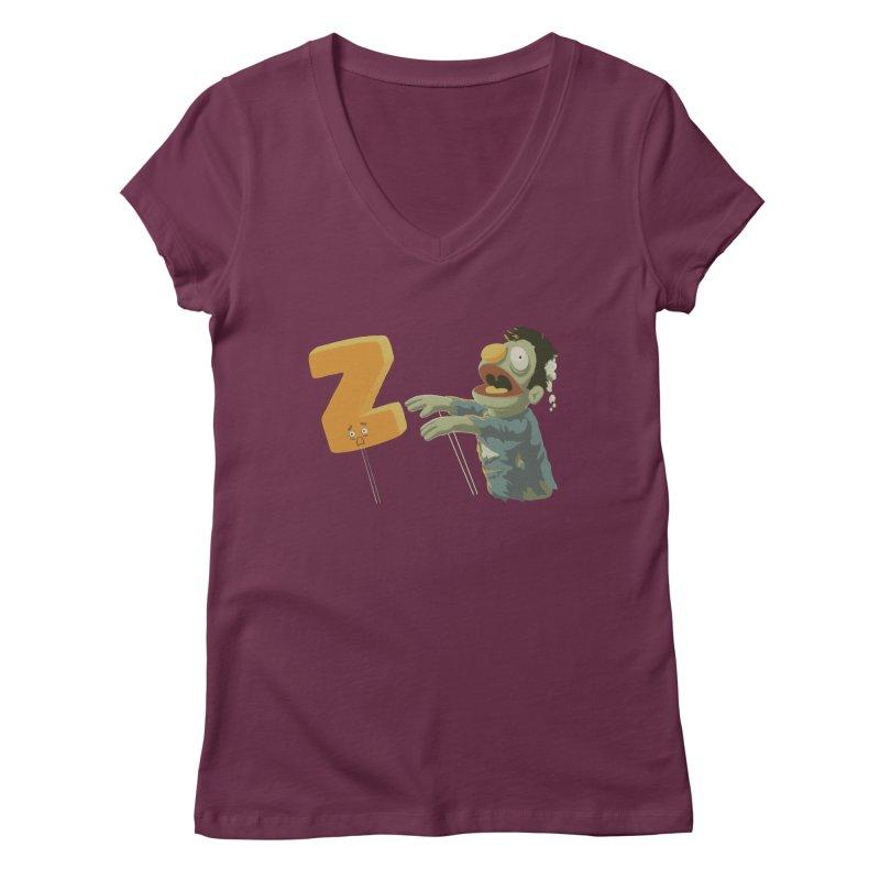 Z is for Zombie Women's Regular V-Neck by Gyledesigns' Artist Shop