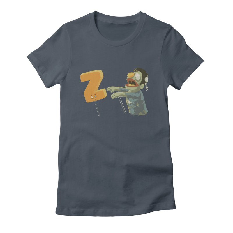 Z is for Zombie Women's Fitted T-Shirt by Gyledesigns' Artist Shop