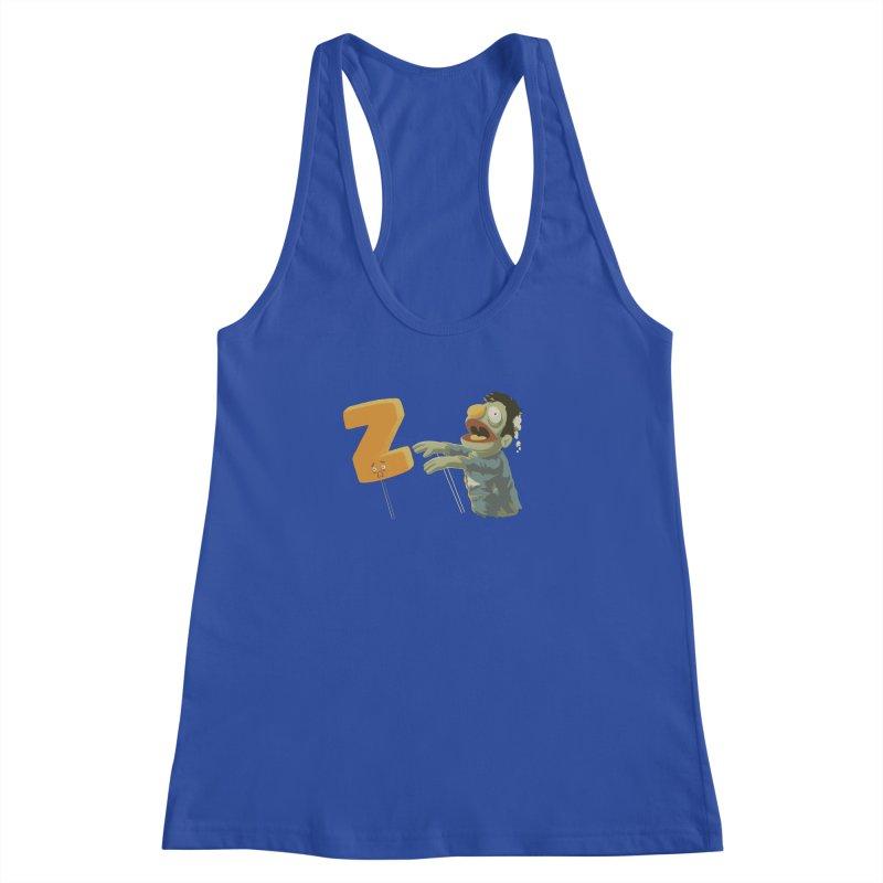 Z is for Zombie Women's Racerback Tank by Gyledesigns' Artist Shop