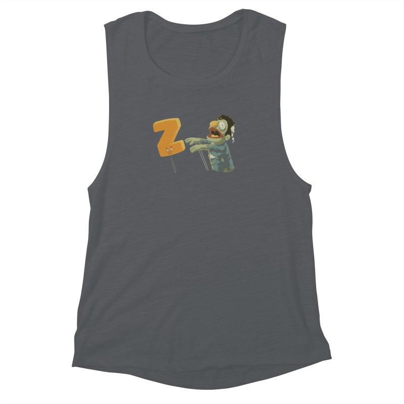 Z is for Zombie Women's Muscle Tank by Gyledesigns' Artist Shop