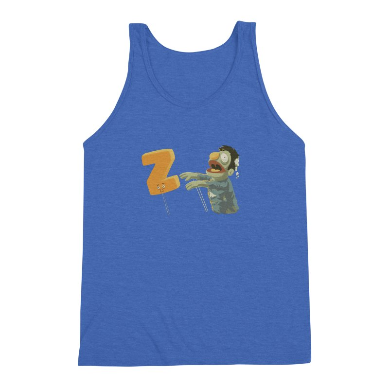 Z is for Zombie Men's Triblend Tank by Gyledesigns' Artist Shop