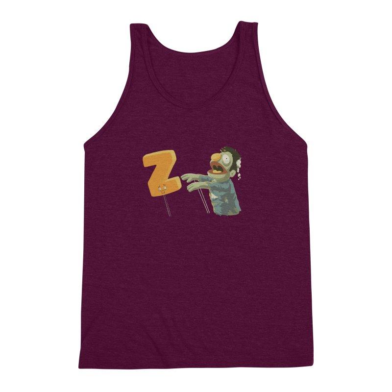 Z is for Zombie Men's Triblend Tank by Gyledesigns' Artist Shop