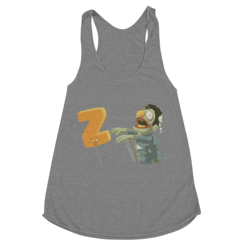 Z is for Zombie Women's Racerback Triblend Tank by Gyledesigns' Artist Shop