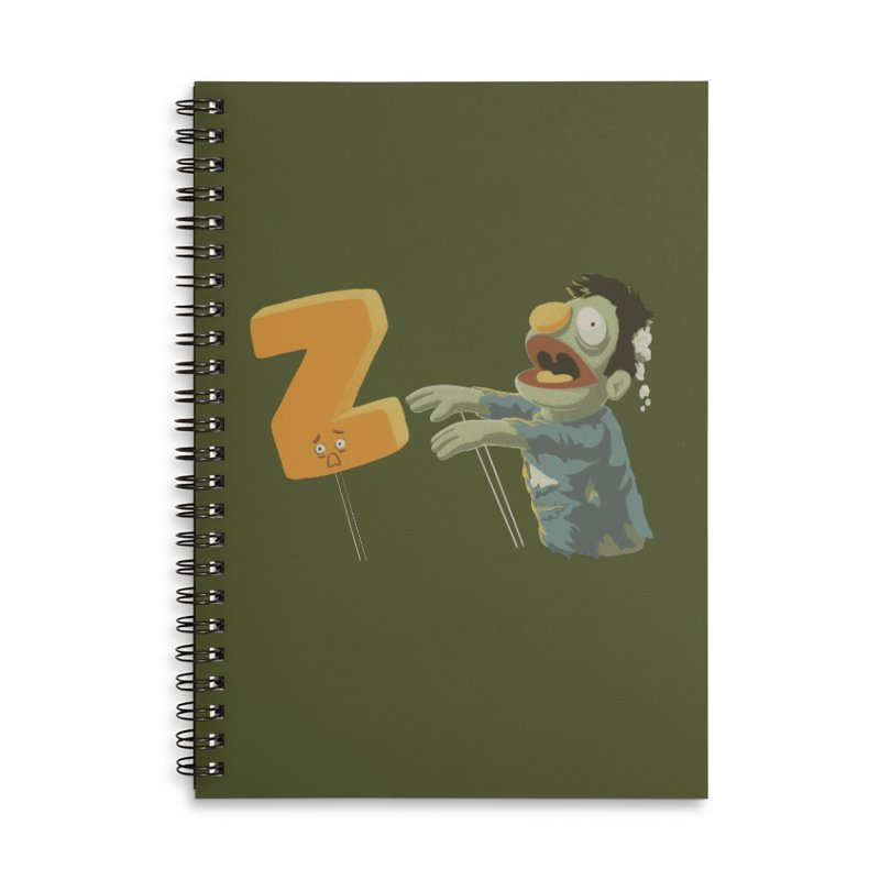 Z is for Zombie Accessories Lined Spiral Notebook by Gyledesigns' Artist Shop