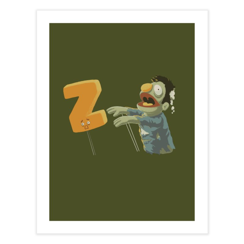 Z is for Zombie Home Fine Art Print by Gyledesigns' Artist Shop
