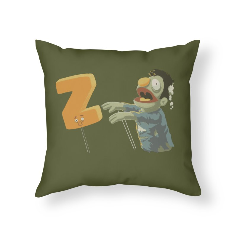 Z is for Zombie Home Throw Pillow by Gyledesigns' Artist Shop